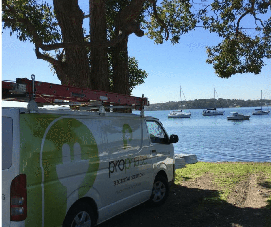 Prophase Electrical Van - Prophase Electrical Solutions - licensed electricians - Servicing Newcastle, Lake Macquarie, Port Stephens & Maitland